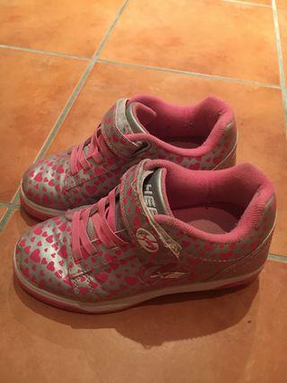 Zapatos de nia con ruedas