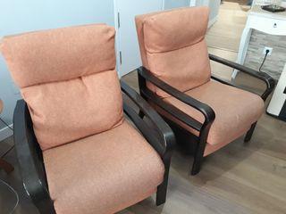 Pareja de sillones reclinables
