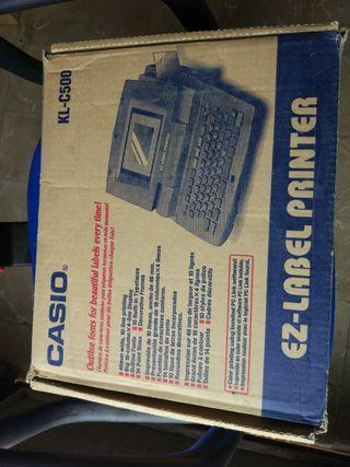 Casio kl-c500 label printer impresora etiquetas