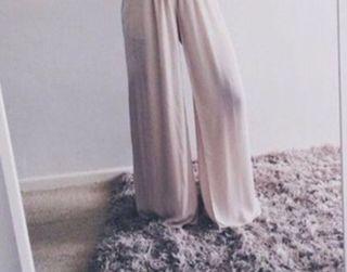Pantalon ancho fluido
