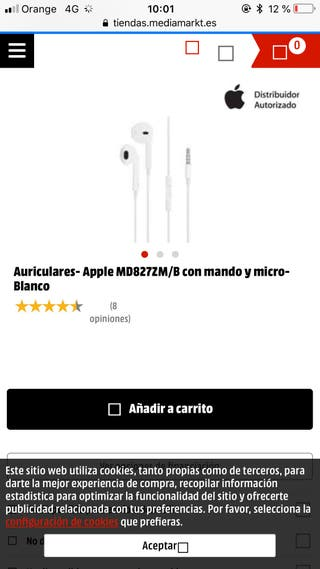 Auriculares iphone apple