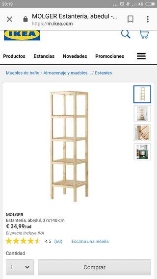 estantería Ikea nueva
