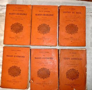 6 LIBROS DICKENS AÑOS 1896, 1898, 1900