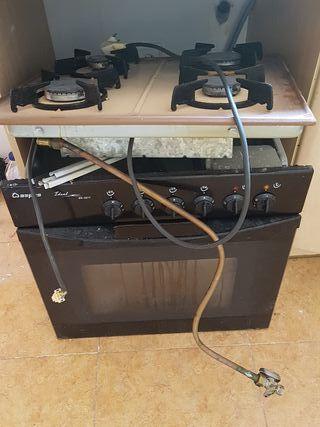cocina gas natural con horno a luz