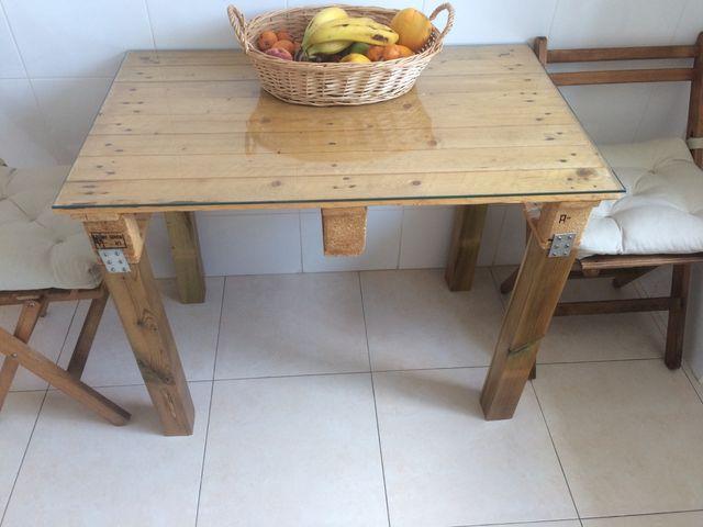 Mesa pequeña cocina / mesa aux de segunda mano por 40 € en Valencia ...