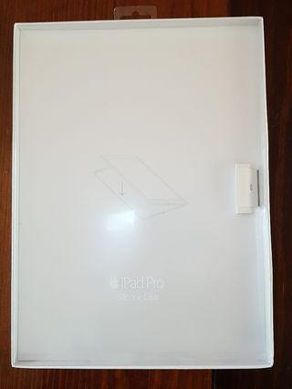 Caja de funda de silicona gris de Ipad Pro