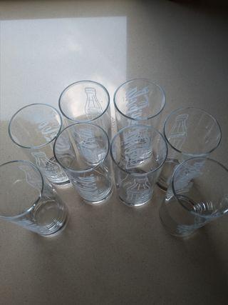 8 vasos tubo Cocacola sin estrenar.
