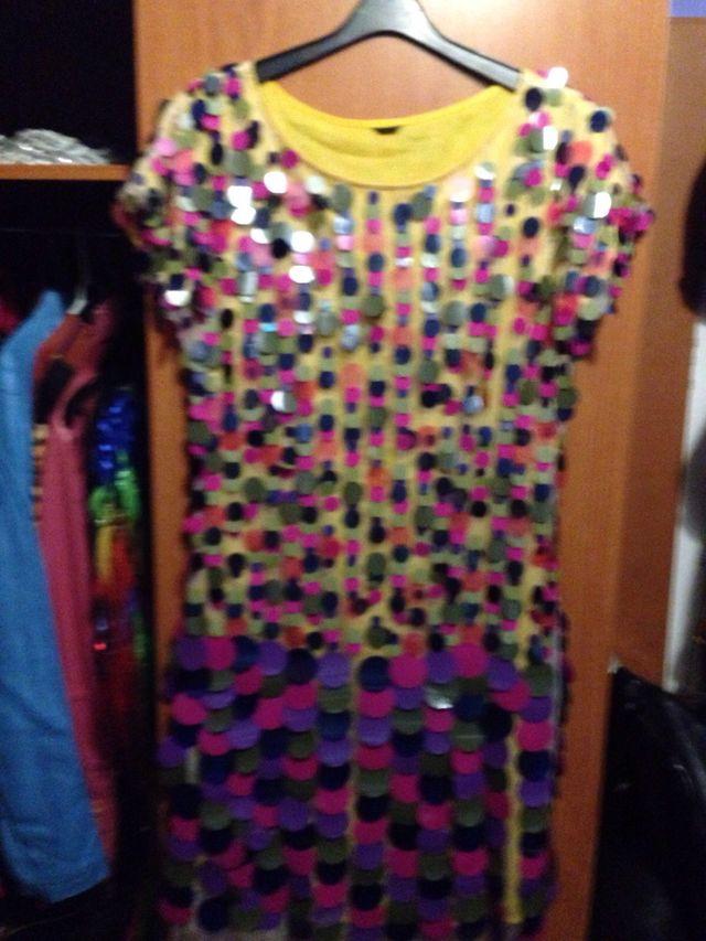Vestido de fiesta hecho a mano estilo años 60