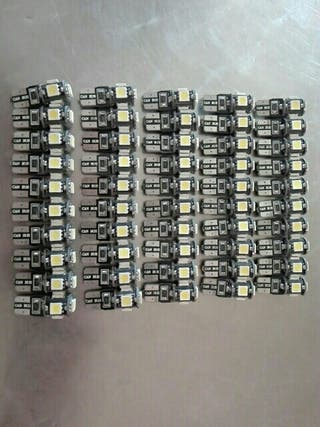 Pack 50 bombillas led canbus t10