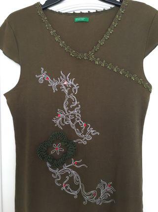 Camiseta benetton, talla M