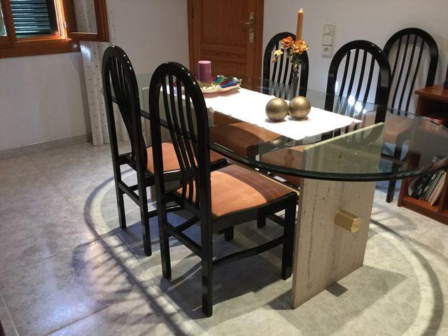 Mesa comedor + 6 sillas de segunda mano por 200 € en Selva en WALLAPOP