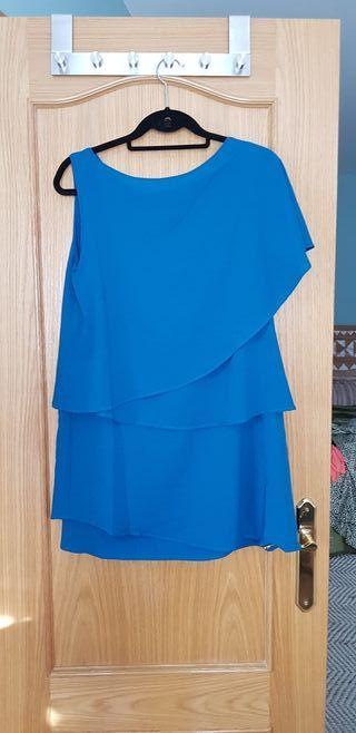 vestido asimetrico talla M