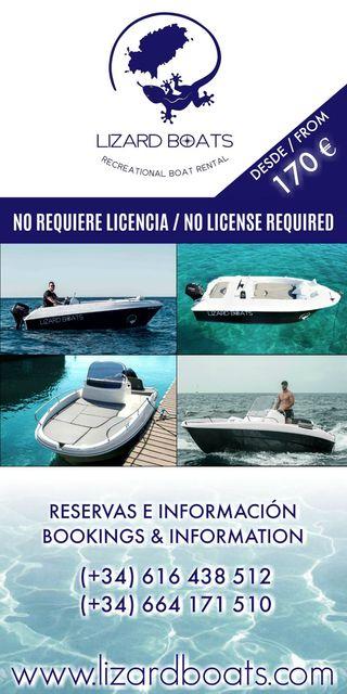 Alquiler barco desde 170€