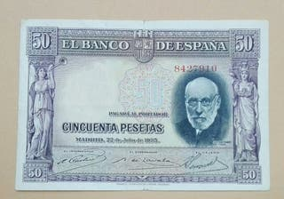 billete antiguo de España