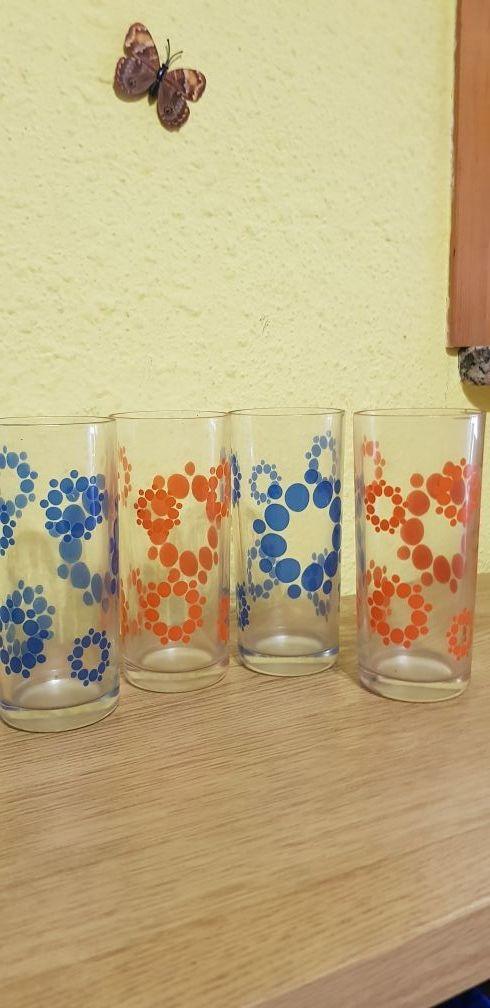 Vasos De Cristal Decorados De Segunda Mano Por 4 En