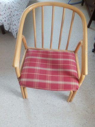 silla de bambú