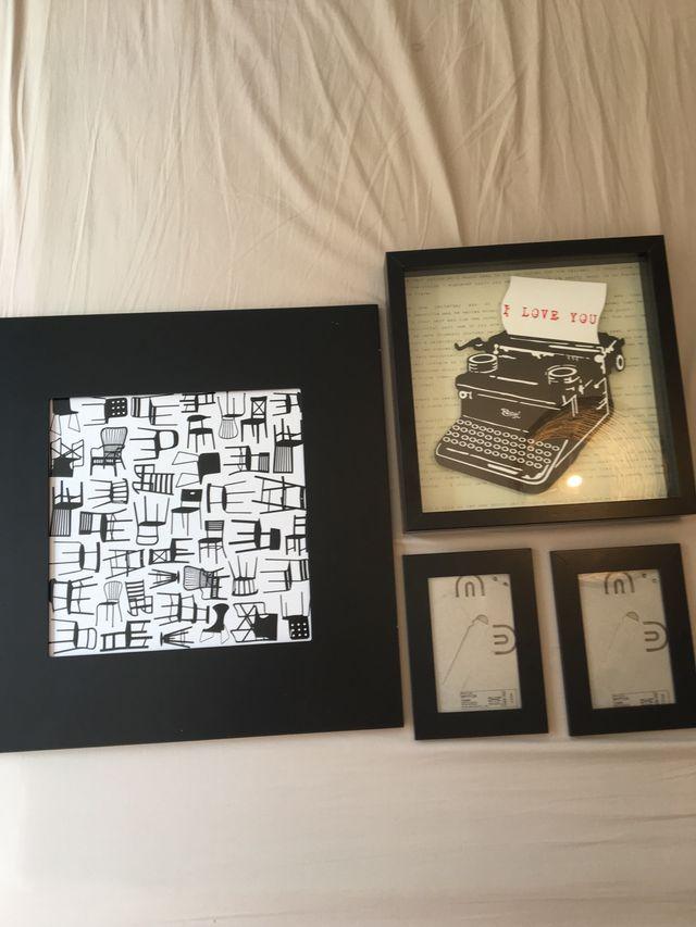 Collage de marcos y cuadros en negro de segunda mano por 10 € en ...