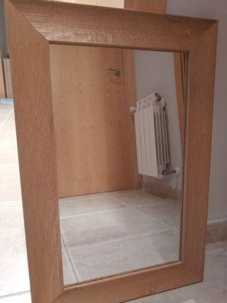 espejo marco de madera Zara home