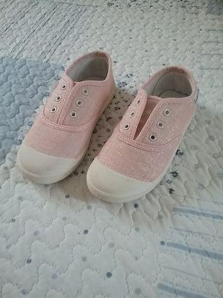 Zapatillas de lona rosa. Sin estrenar!!