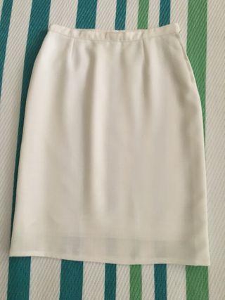 Falda blanca talla 38-40