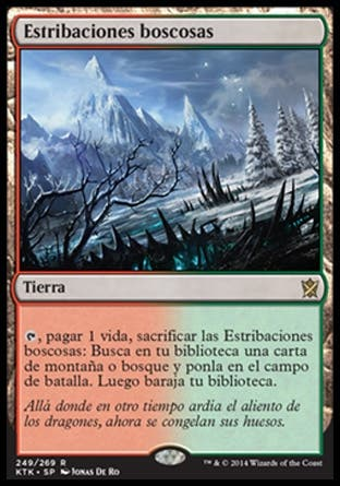 Estribaciones Boscosas x 4 - Magic the Gathering