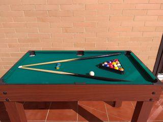 Mesa billar, futbolín, ping pong...