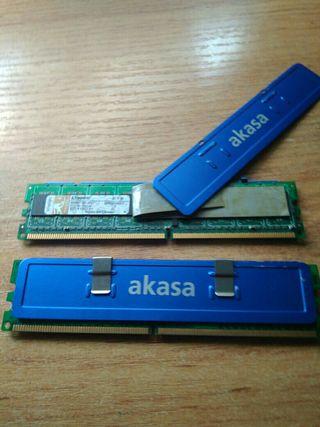 2 Memorias ram ddr2 512 a 533
