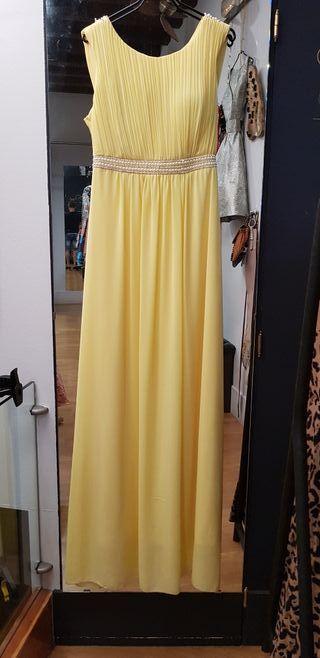 Vestido largo boda amarillo