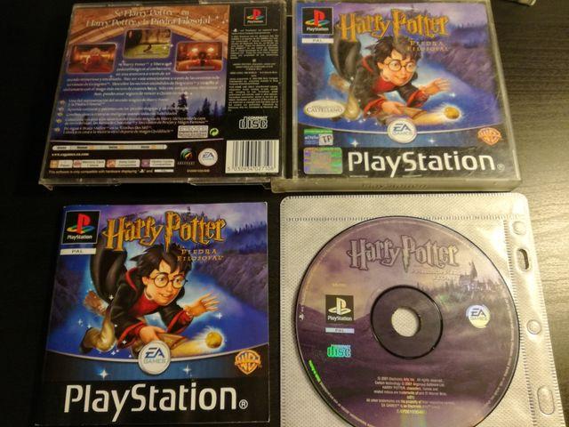Juego Completo Ps1 Harry Potter Y La Piedra De Segunda Mano Por 6