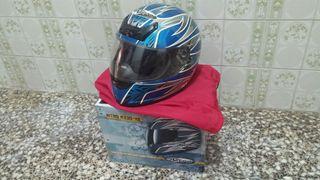 Casco moto Nitro N330-VX Azul
