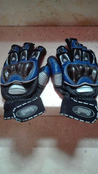 guantes y espaldera
