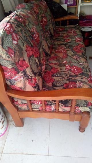Sillones y sofa de pino macizo