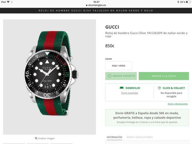 1eb8a38f35e07 Reloj Gucci DIVE de segunda mano por 575 € en Las Rozas de Madrid en ...