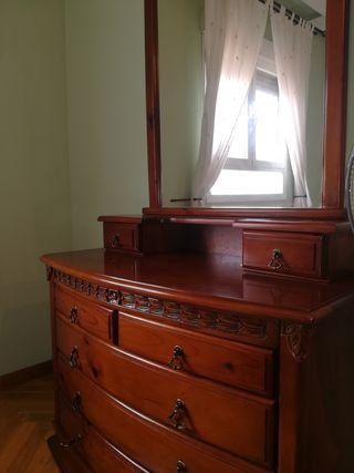 habitación madera 135x190