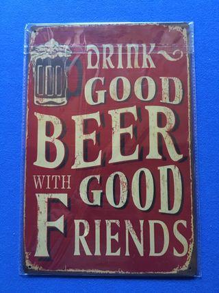 Placa retro vintage