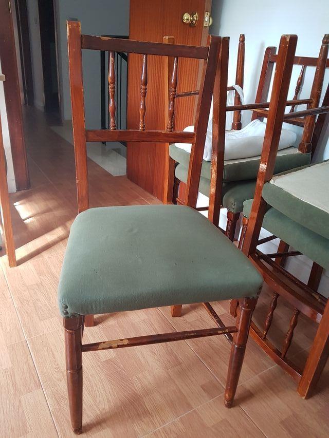 6 sillas baratas !! madera salon comedor de segunda mano por 29 € en ...