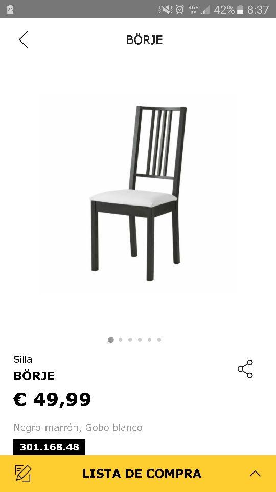 Juego sillas comedor IKEA de segunda mano por 150 € en Valdemoro ...
