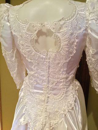 Vestido de novia años 80