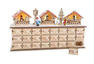 Calendario de adviento madera