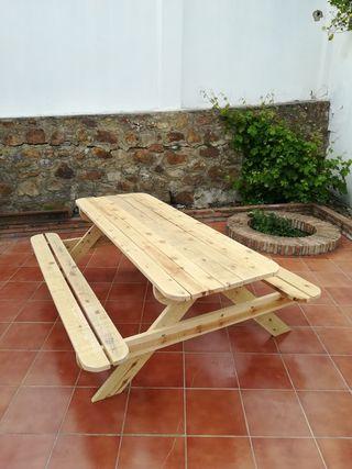 mesa picnic jardín exterior etc