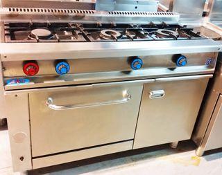 cocina industrial con horno