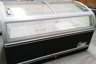 congelador horizontal tapa abatible de acero inox