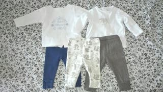 Camisetas y pantalones bebé