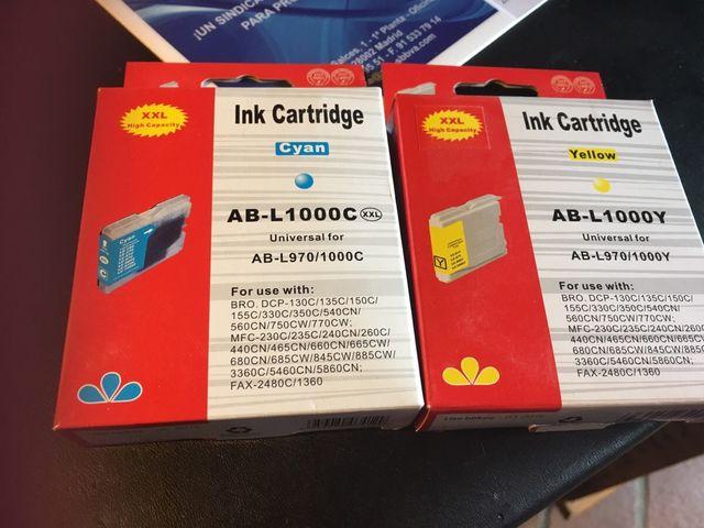 Cartuchos impresora brother (precio por los 4)