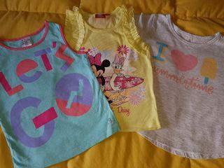 lote camisetas 2 a 3 años