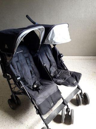 Carro doble gemelar McLaren bebé
