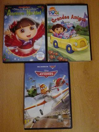 Dvds lote películas DORA+ AVIONES