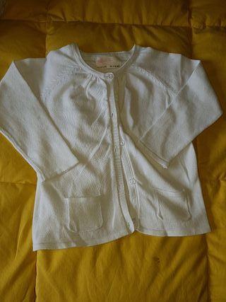 chaqueta blanca 2 a 3 años