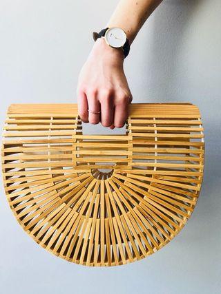 bolso de bambú