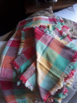 Mantel vintage picnic con servilletas